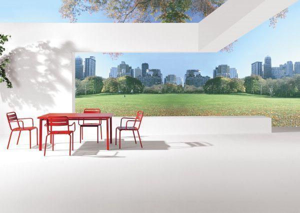 Emu Star tuinset 70x70 tafel + 4 stoelen (armchair)