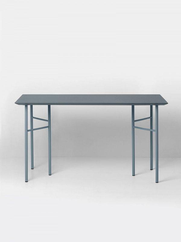 Ferm Living Mingle Desk Dusty Blue Linoleum bureau 135x65 verstelbaar