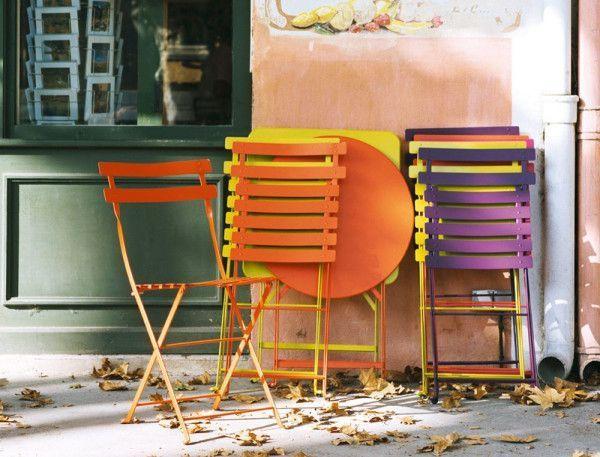 Fermob Bistroset tuin 57x57 tafel + 4 stoelen