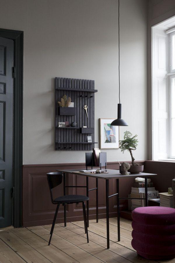 Ferm Living Mingle Desk Light Grey Linoleum bureau 135x65 verstelbaar