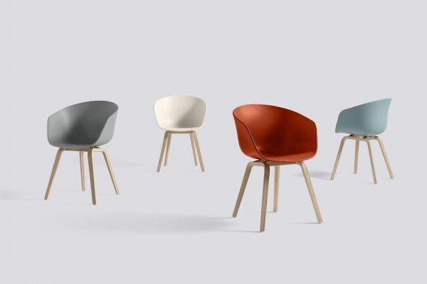 Hay AAC22 stoel met gezeept onderstel, kuip cream white
