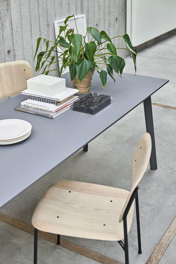 Hay CPH Deux 210 tafel 200x75 met mat gelakt eiken onderstel