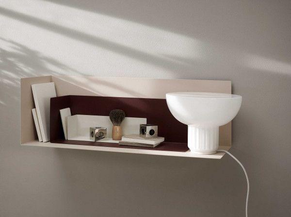Menu Corner Divider wandplank small lichtgrijs