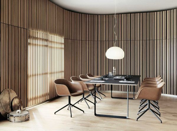 Muuto 70/70 tafel 170 eetkamerset + 4 Fiber side wood stoelen