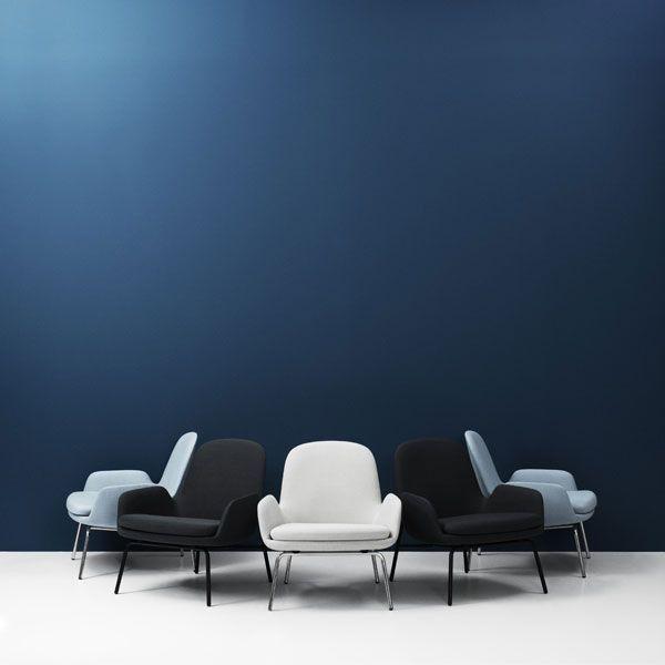Normann Copenhagen Era Lounge Chair Low loungestoel met zwart stalen onderstel