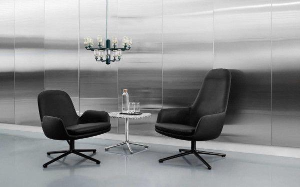 Normann Copenhagen Era salontafel 60x48 met zwart onderstel
