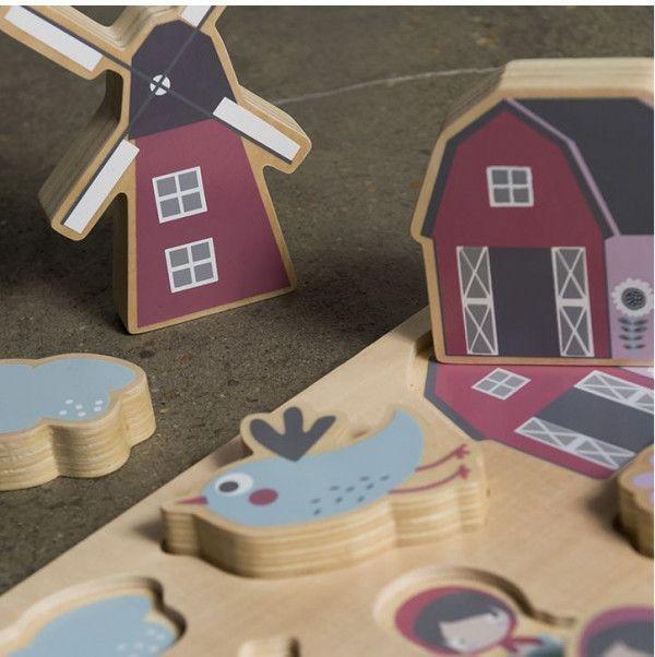 Sebra Farm houten puzzel