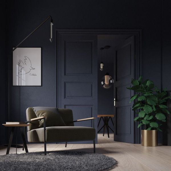 Studio HENK Co fauteuil met zwart frame