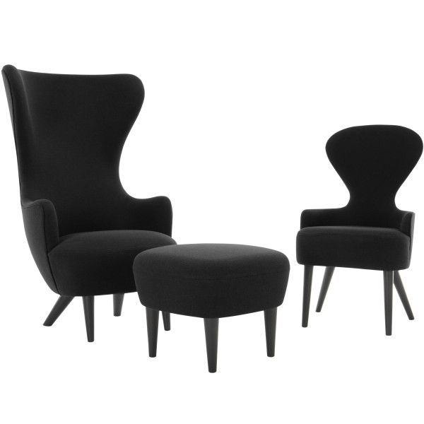 Tom Dixon Wingback Black stoel