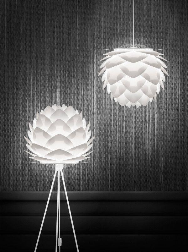 Umage Silvia mini vloerlamp met wit onderstel