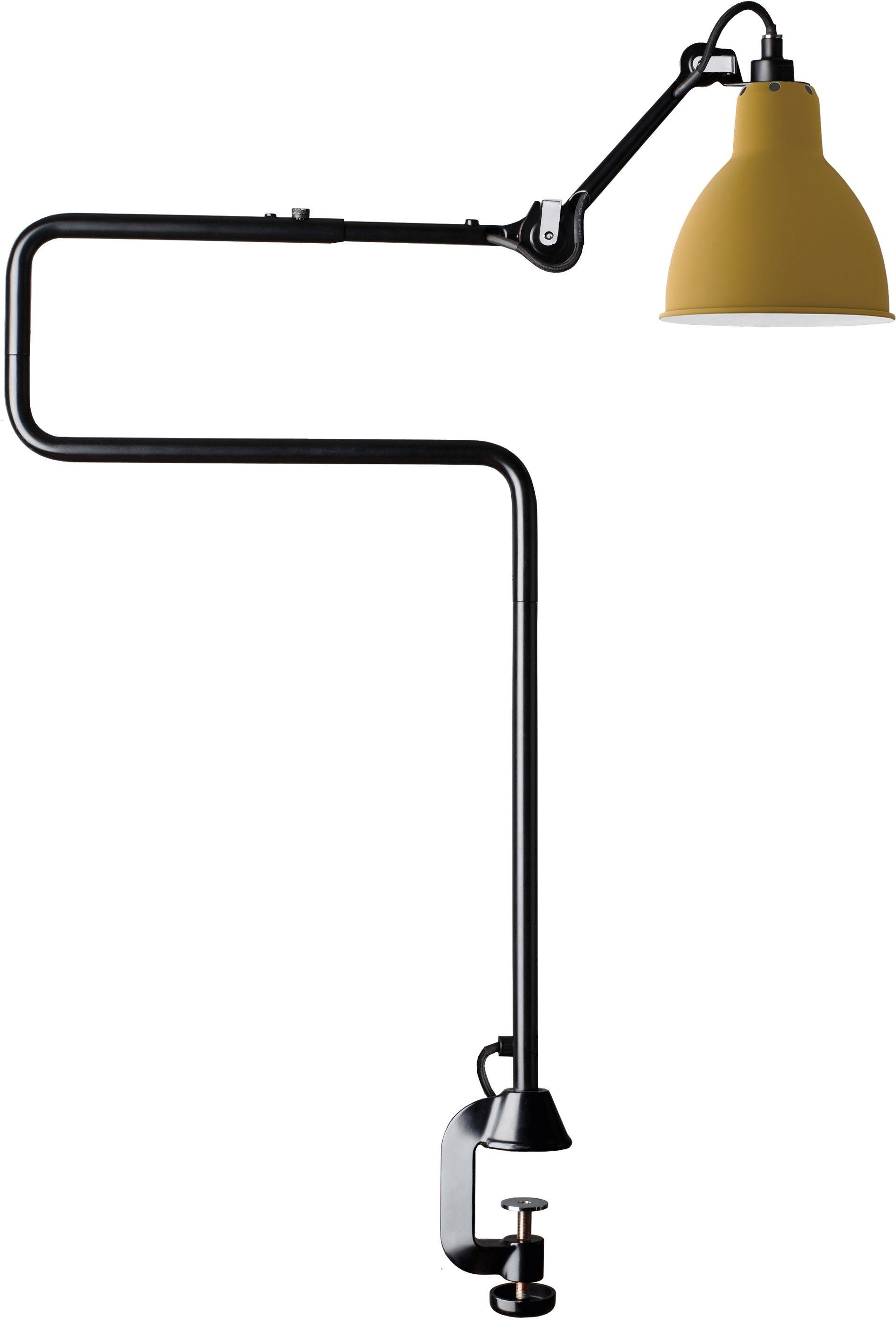 DCW éditions Lampe Gras N211 bureaulamp met tafelklem Geel