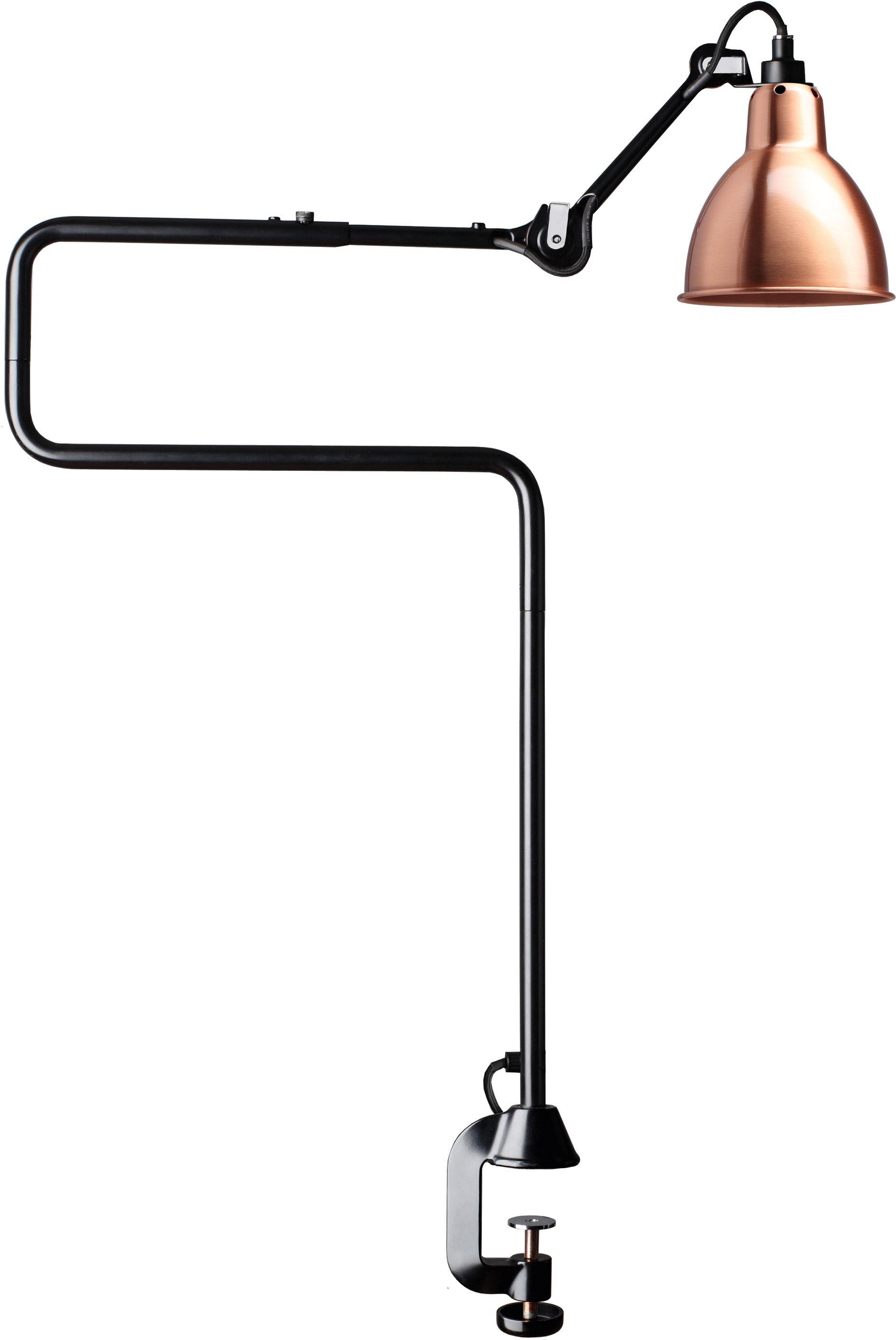 DCW éditions Lampe Gras N211 bureaulamp met tafelklem Koper