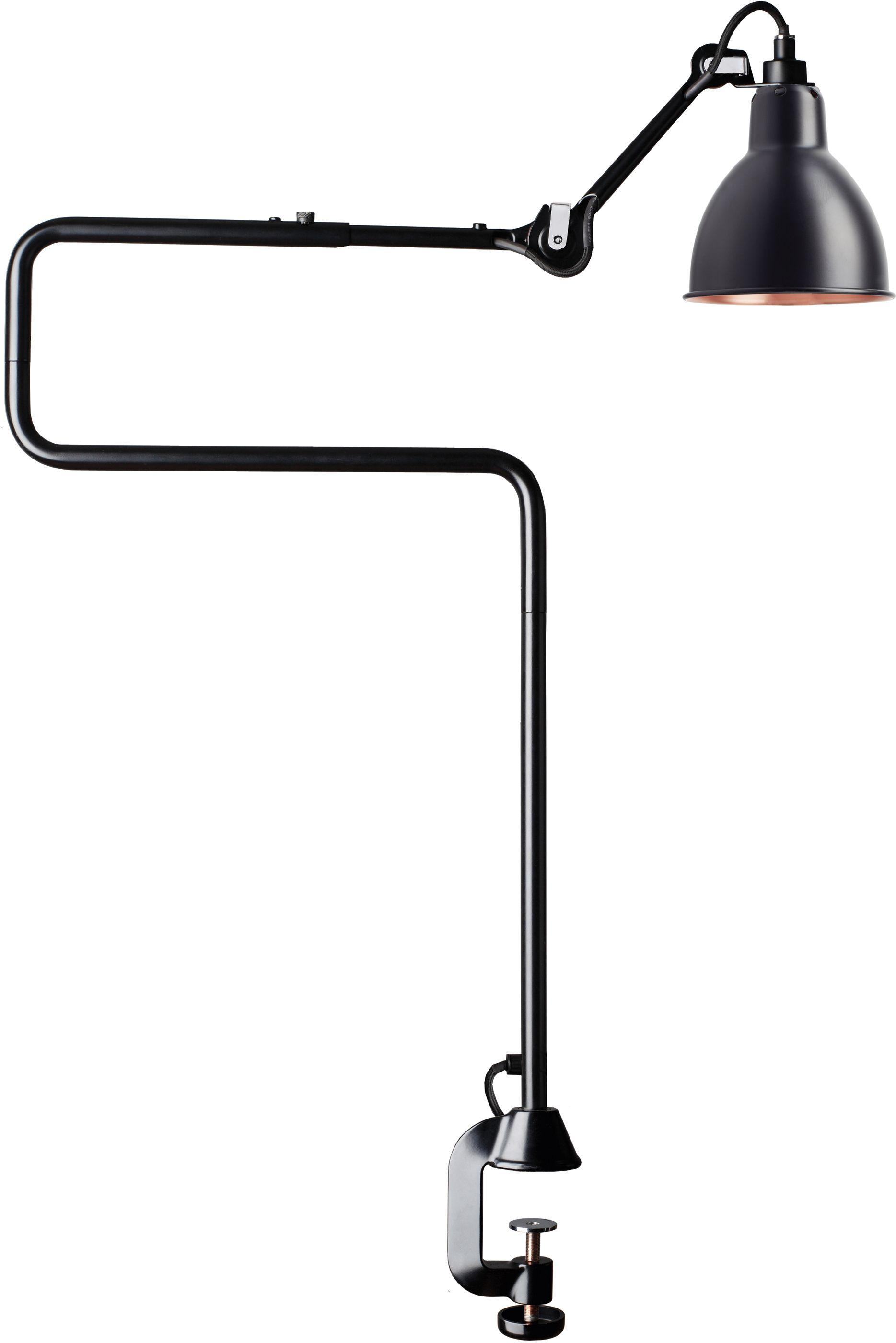 DCW éditions Lampe Gras N211 bureaulamp met tafelklem Koper/zwart