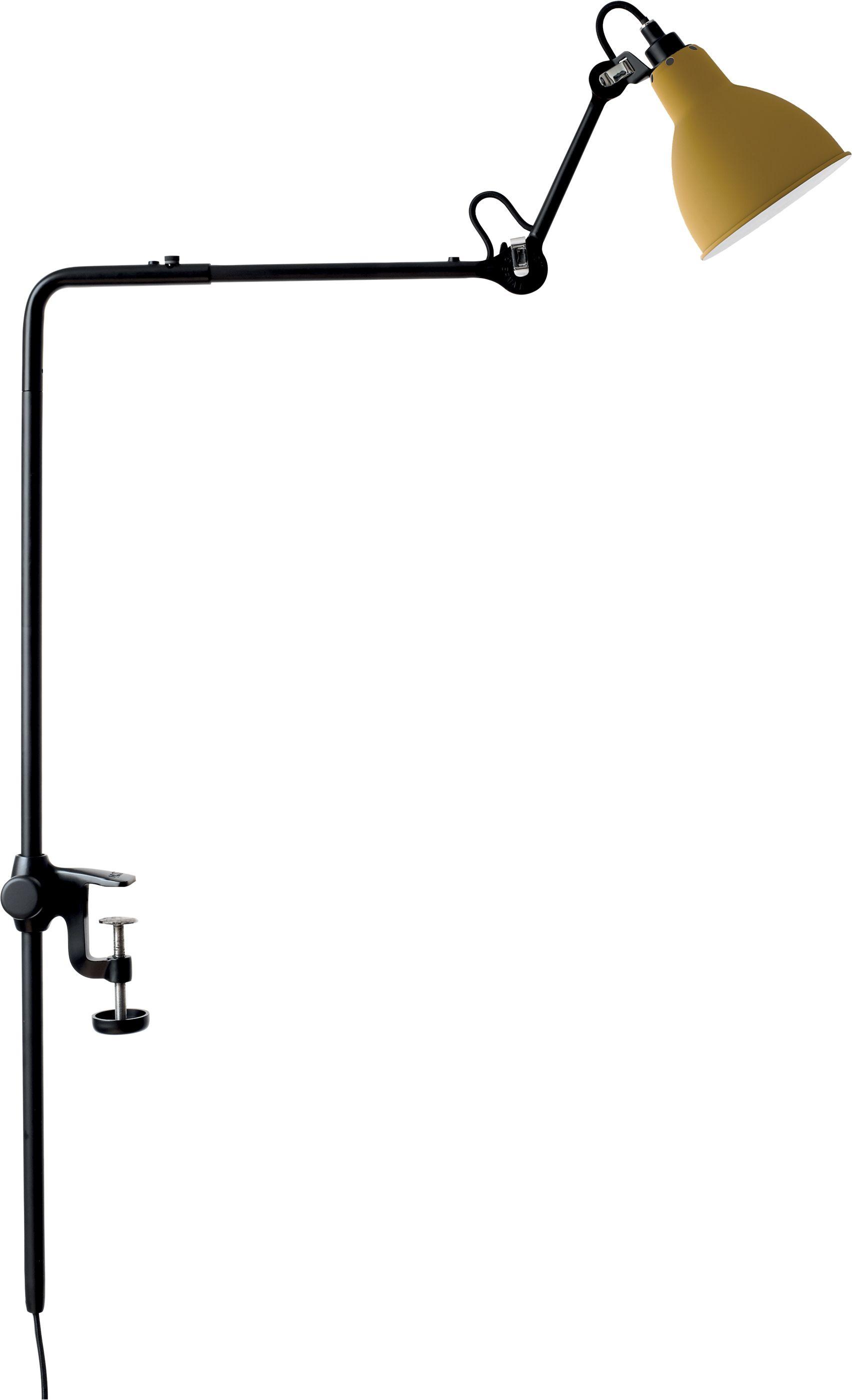 DCW éditions Lampe Gras N226 bureaulamp met tafelklem Geel