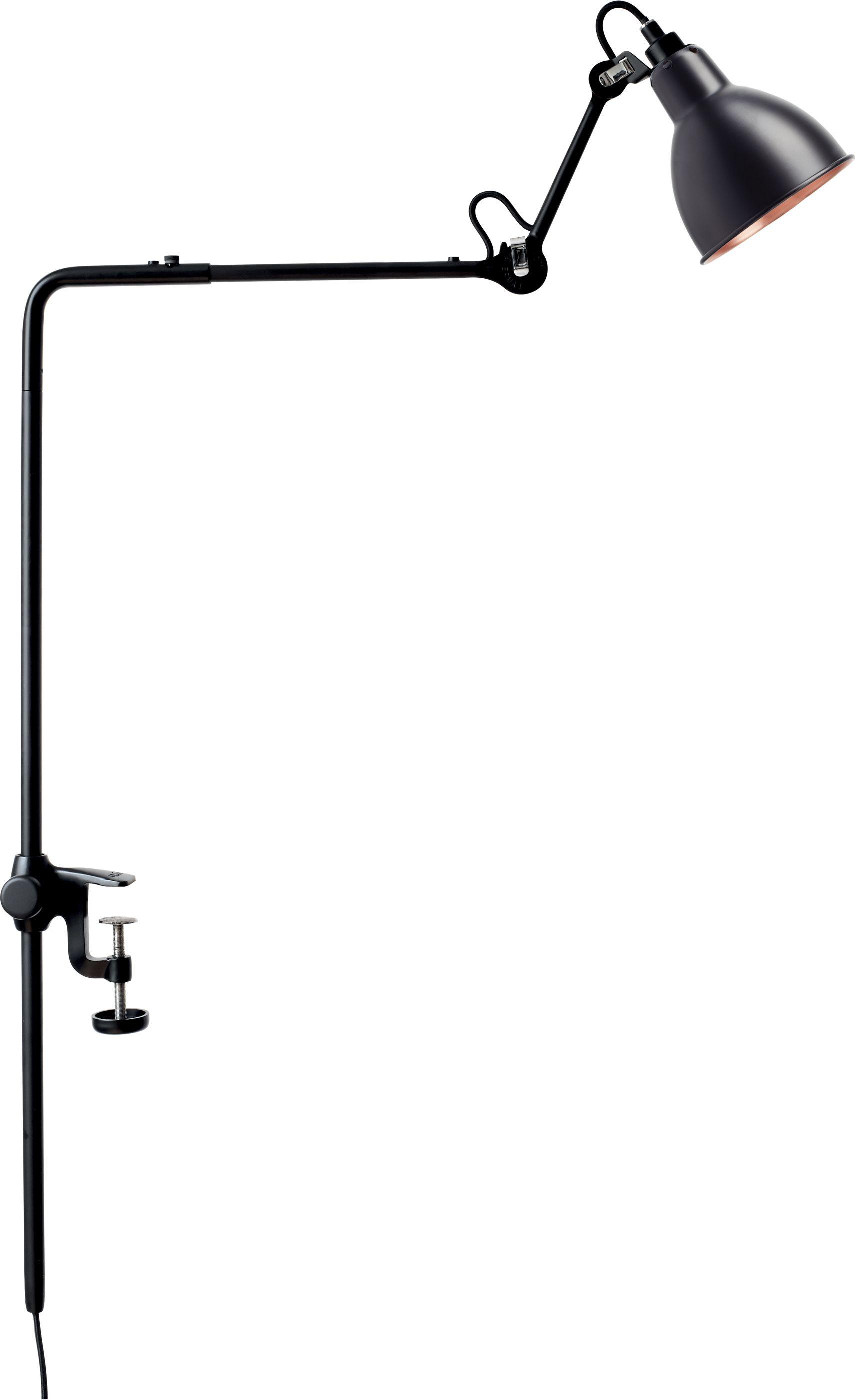 DCW éditions Lampe Gras N226 bureaulamp met tafelklem Koper/zwart