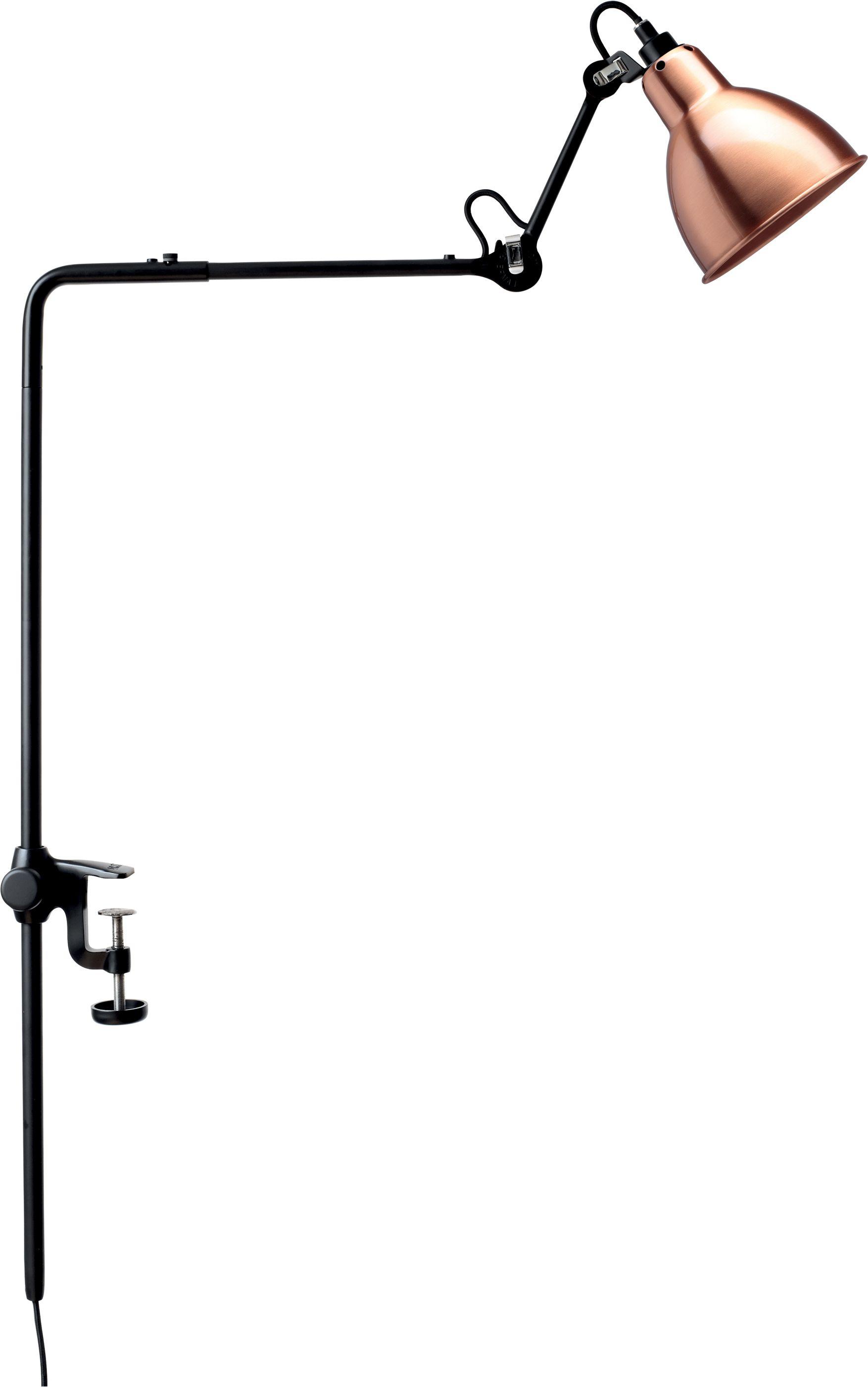 DCW éditions Lampe Gras N226 bureaulamp met tafelklem Koper