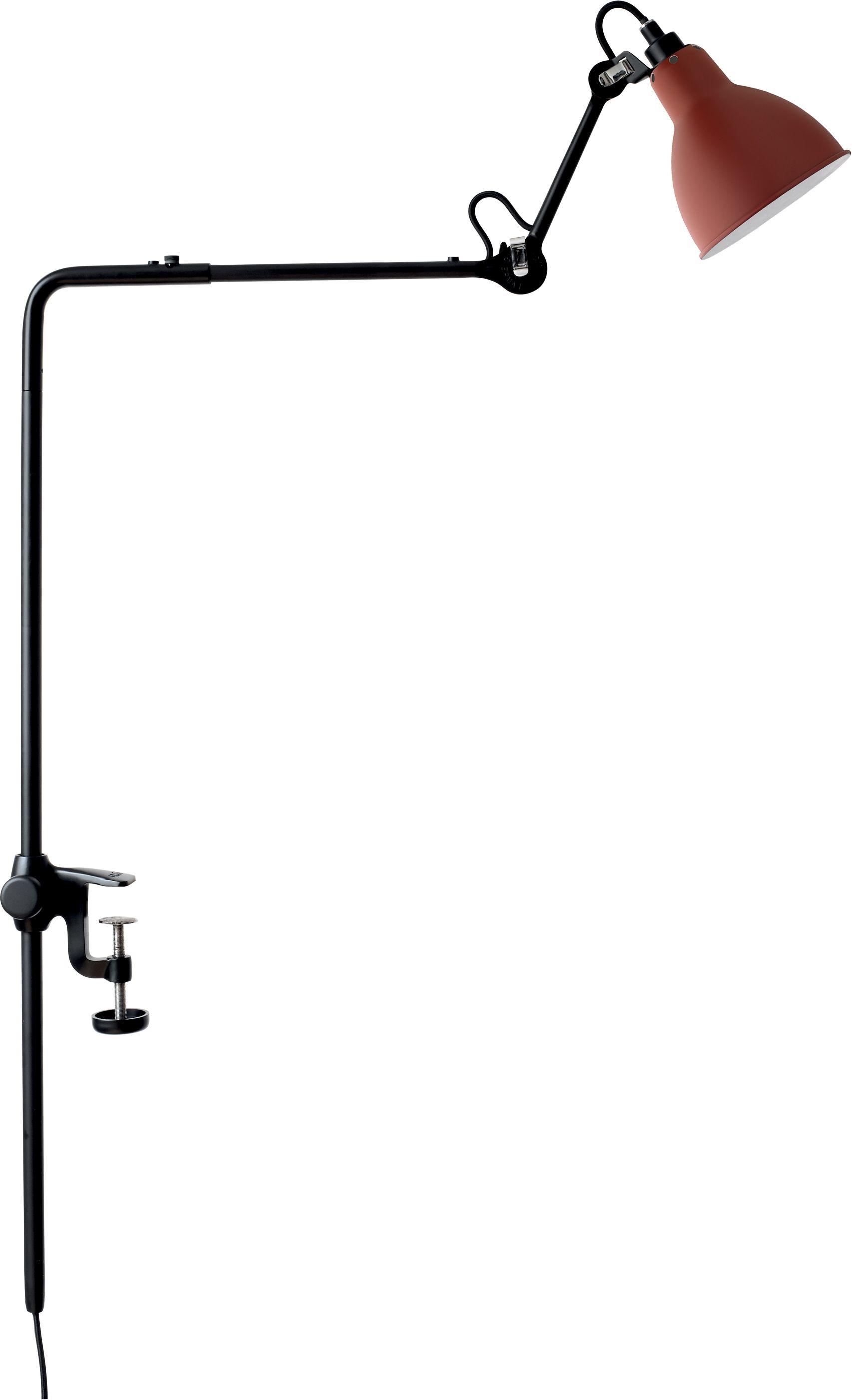 DCW éditions Lampe Gras N226 bureaulamp met tafelklem Rood