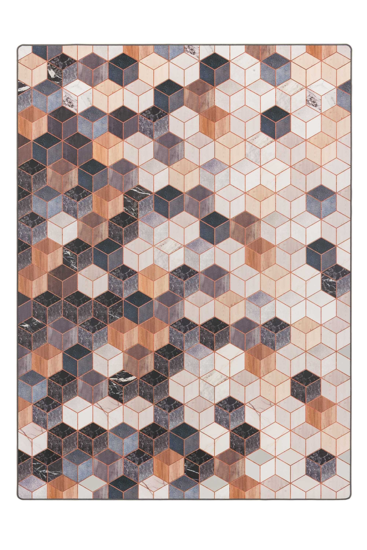 Tarkett Cubes vloerkleed vinyl 166x226 bruin