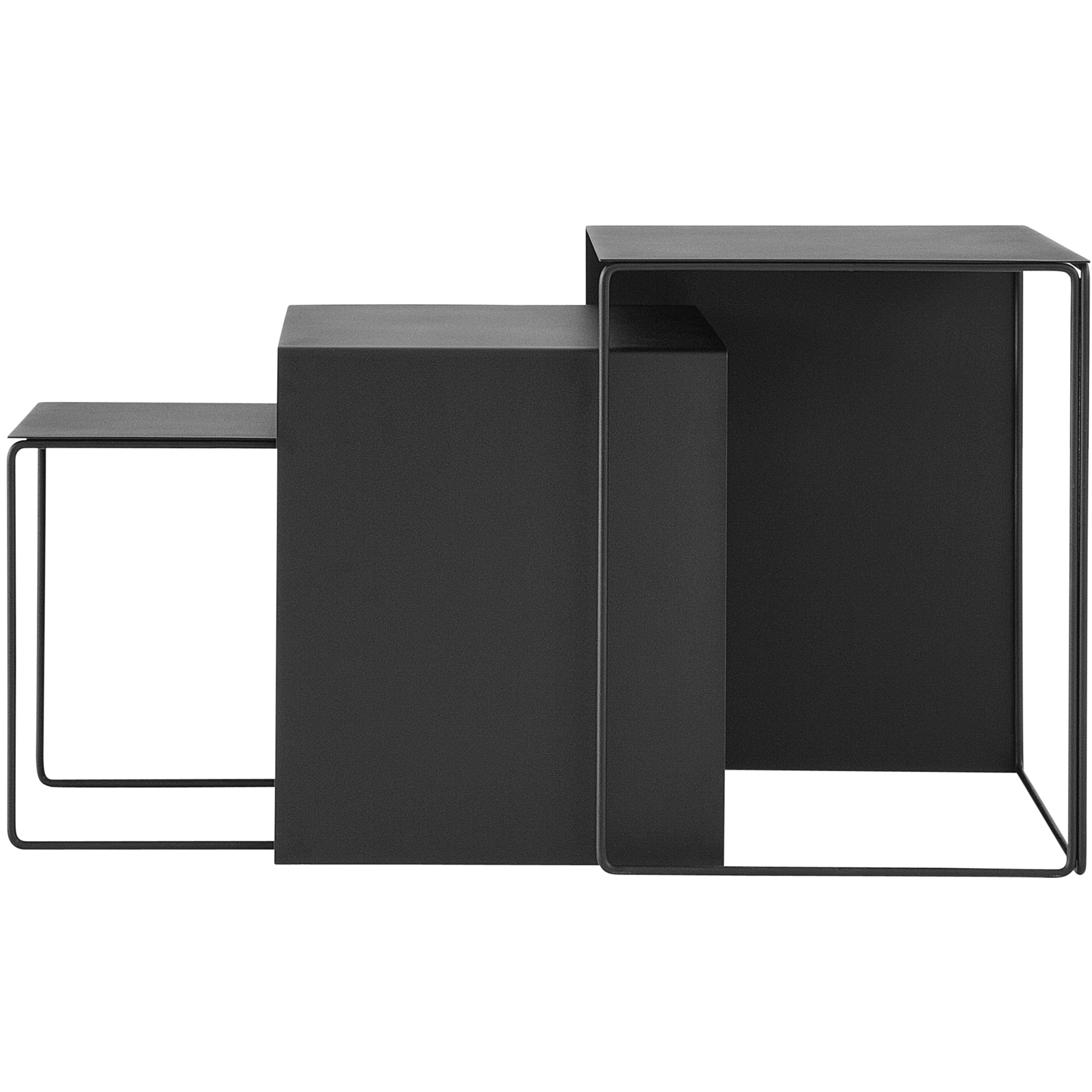 Ferm Living Cluster Tables bijzettafel set van 3 zwart