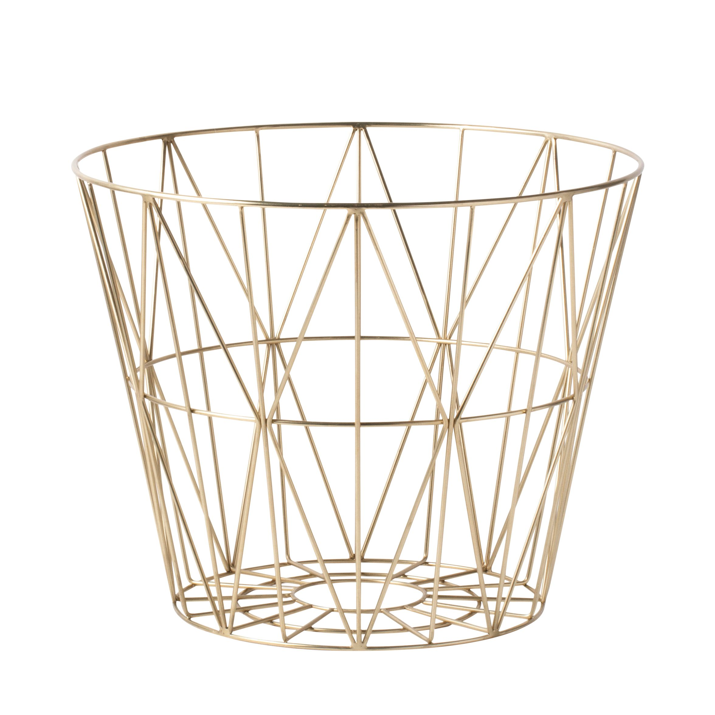 Ferm Living Wire Basket Brass opbergmand medium kopen