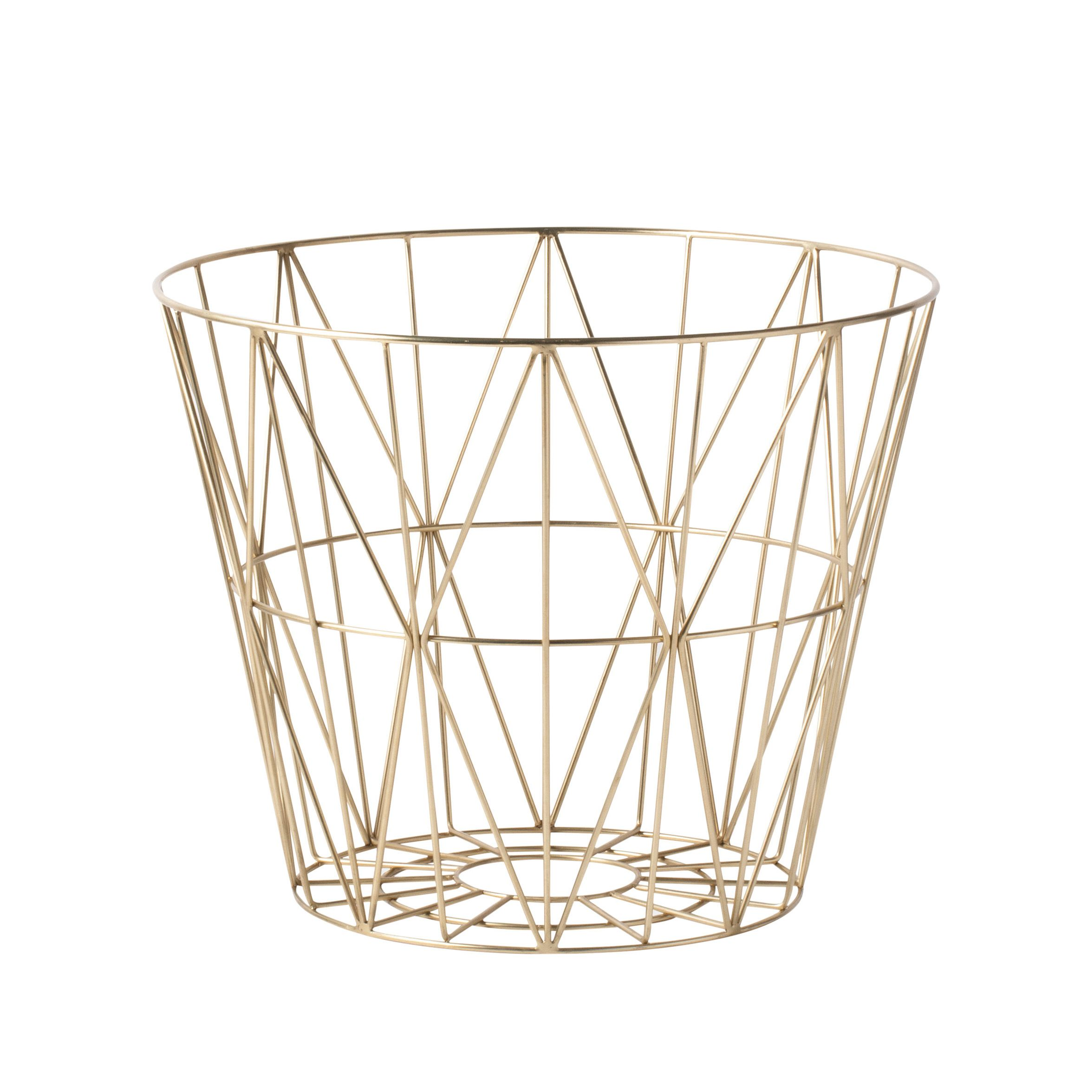 Ferm Living Wire Basket Brass opbergmand small kopen