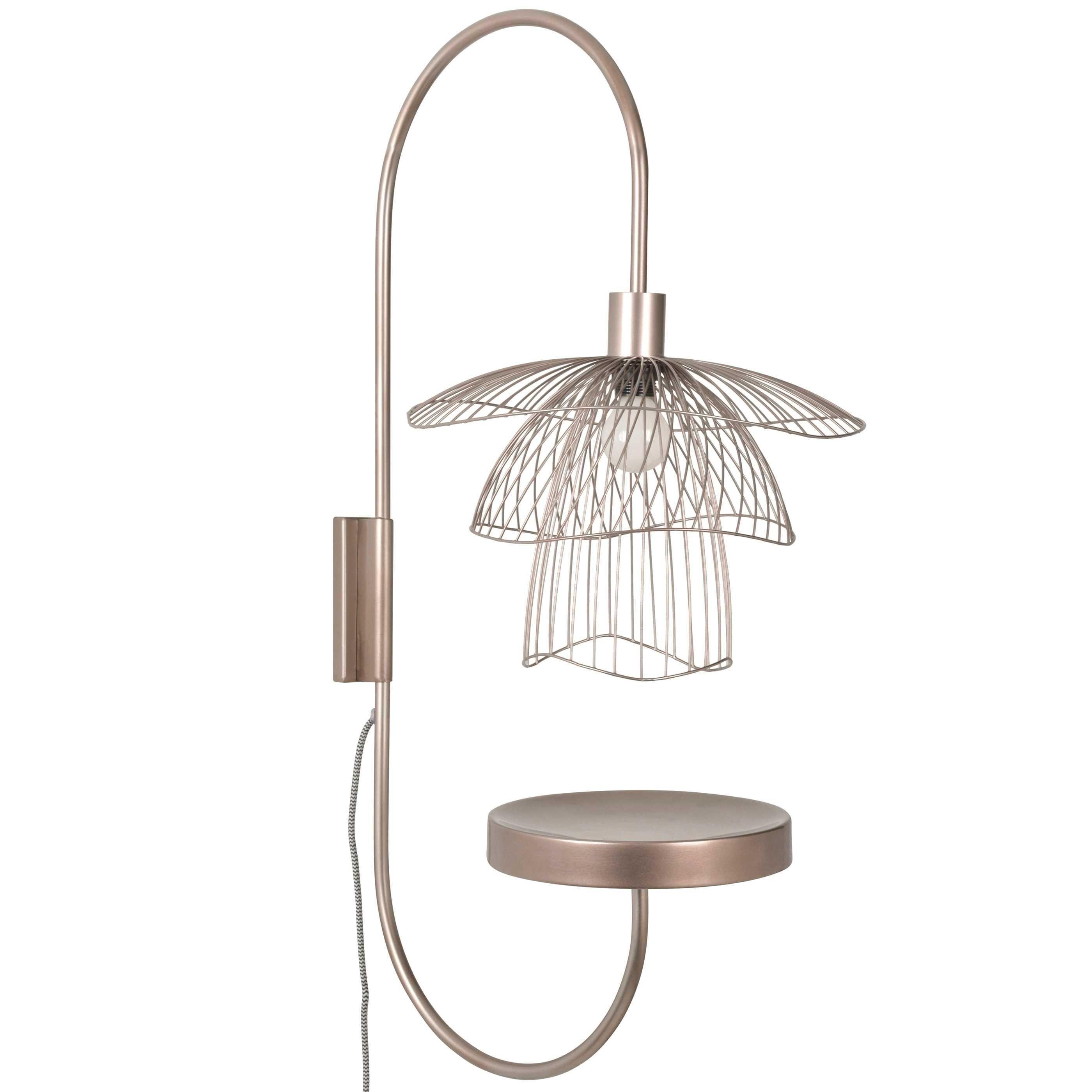 Forestier Papillon wandlamp met plateau metallic taupe