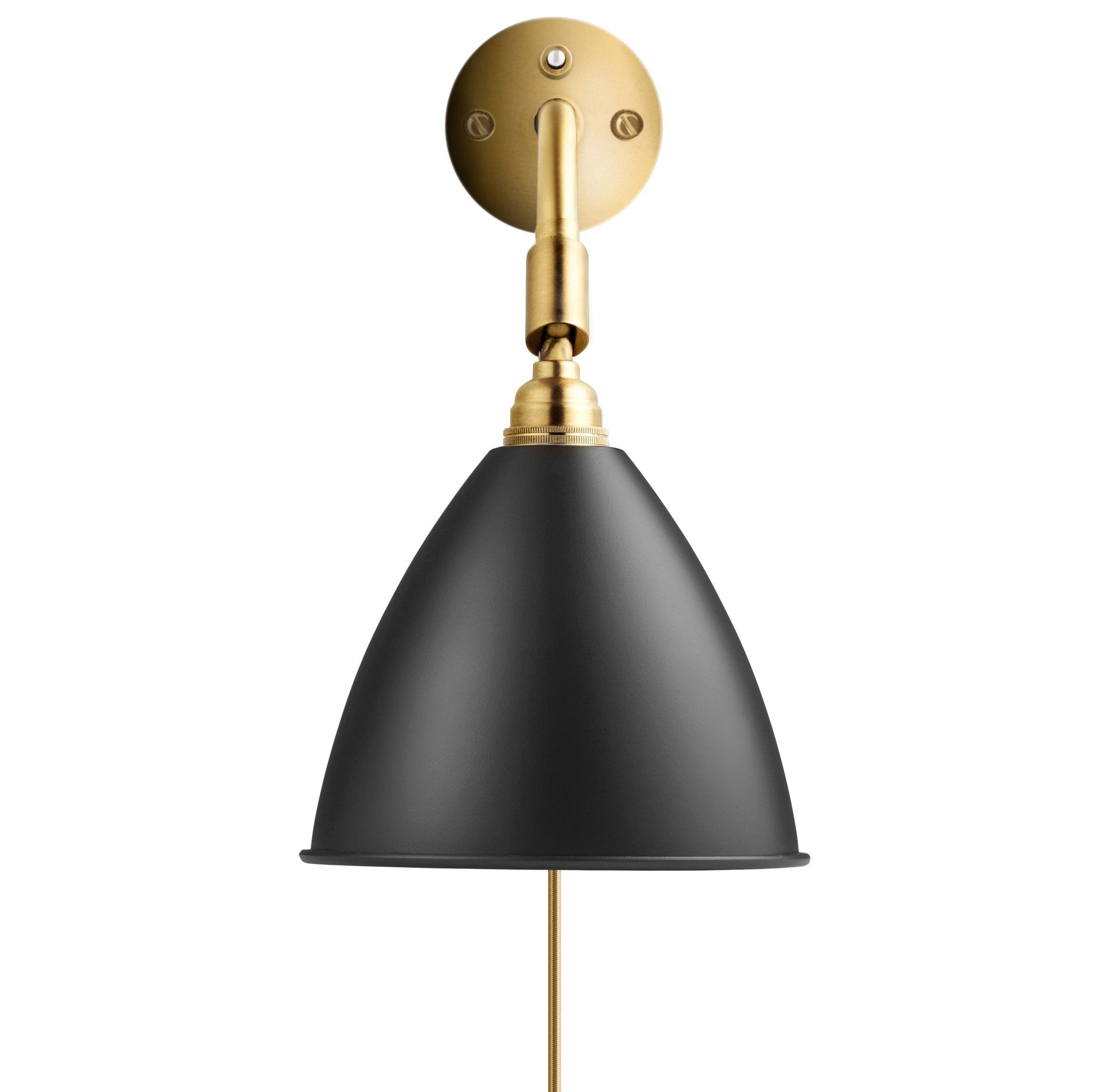 Gubi Bestlite BL7 wandlamp zwart/messing met stekker