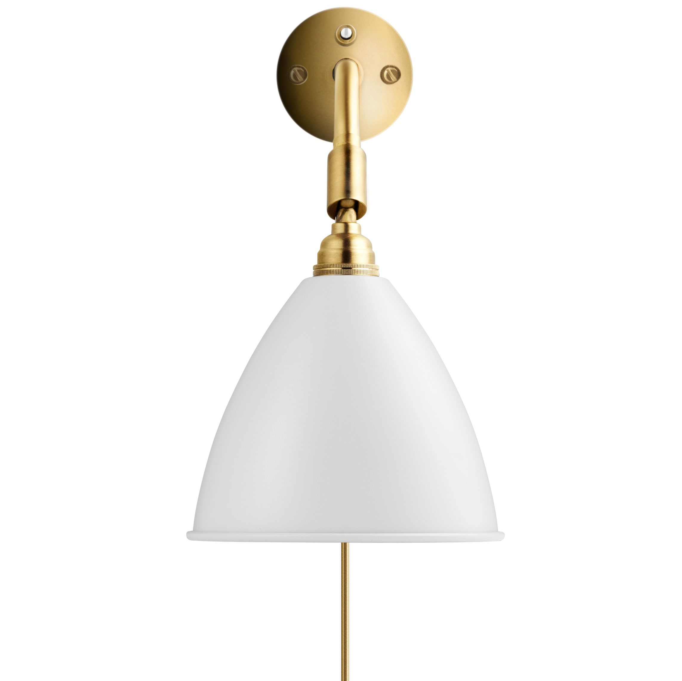 Gubi Bestlite BL7 wandlamp wit/messing met stekker