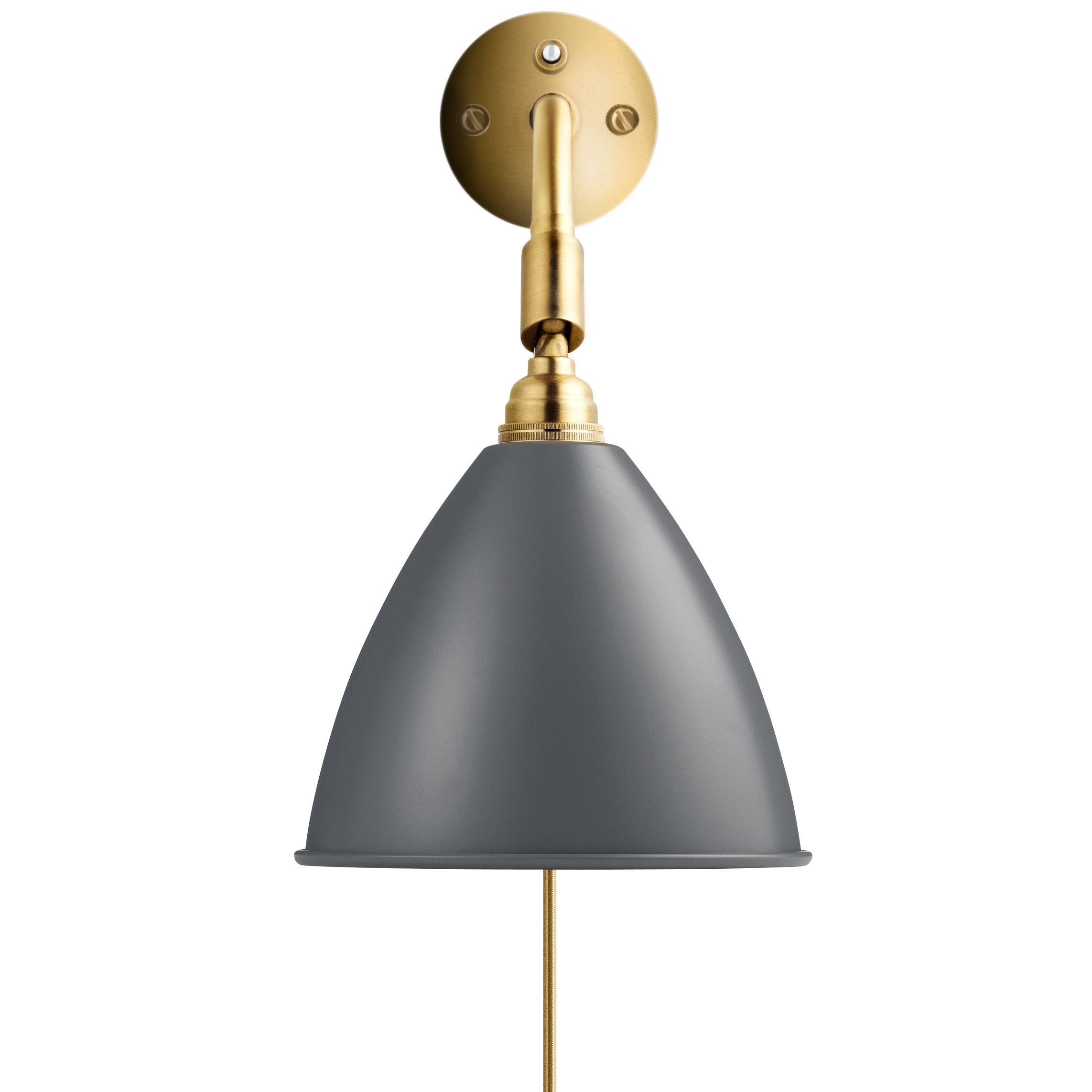Gubi Bestlite BL7 wandlamp grijs/messing met stekker