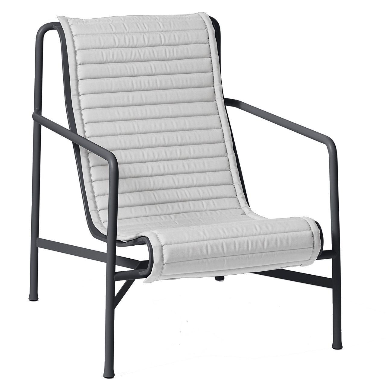 Hay Palissade High fauteuil Quilted zitkussen lichtgrijs