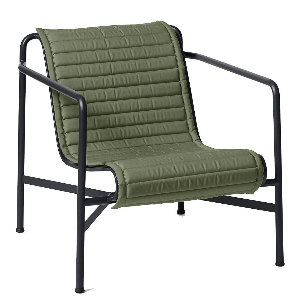 Hay Palissade Low fauteuil Quilted zitkussen olijf