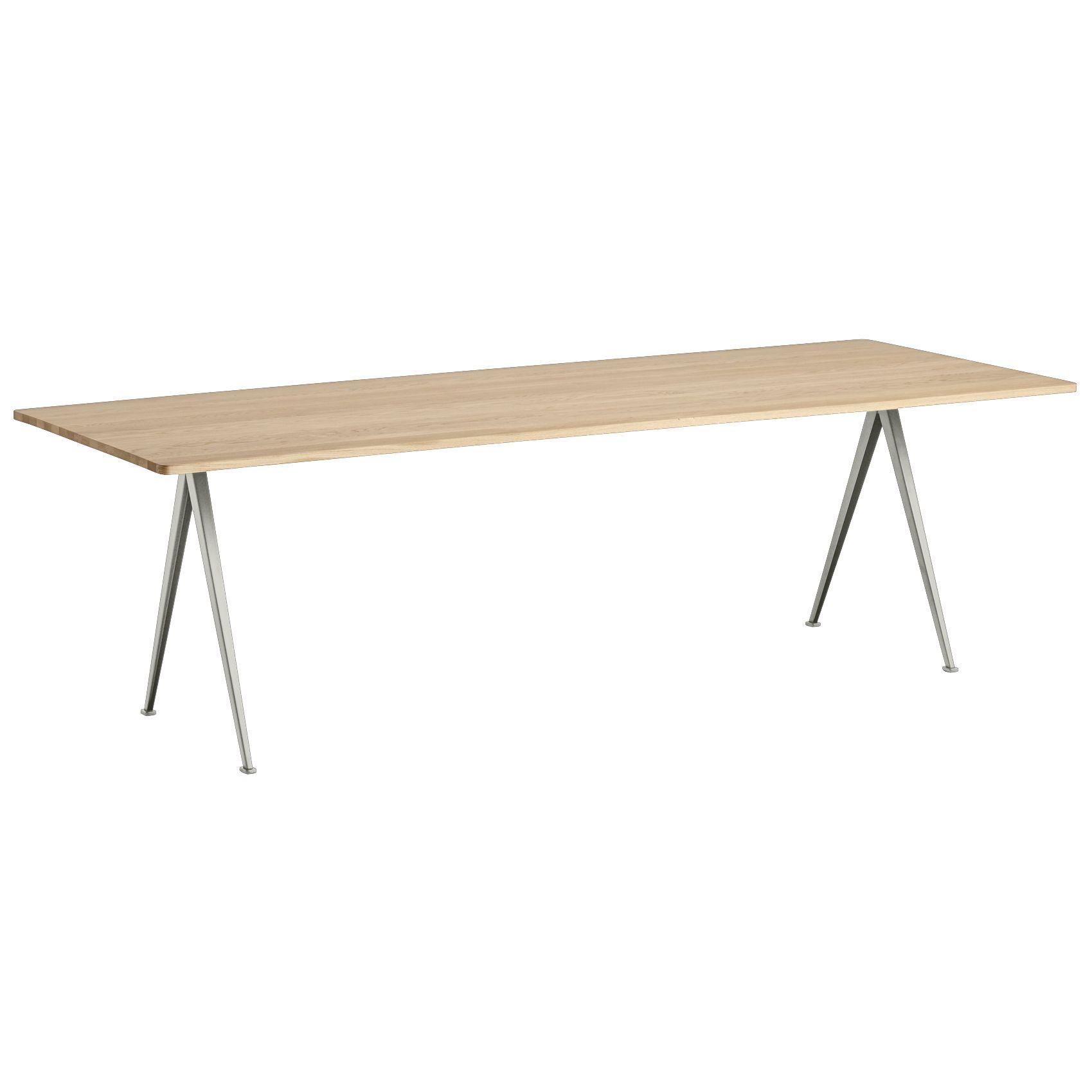 Hay Pyramid 02 tafel 250x85 mat gelakt beige onderstel