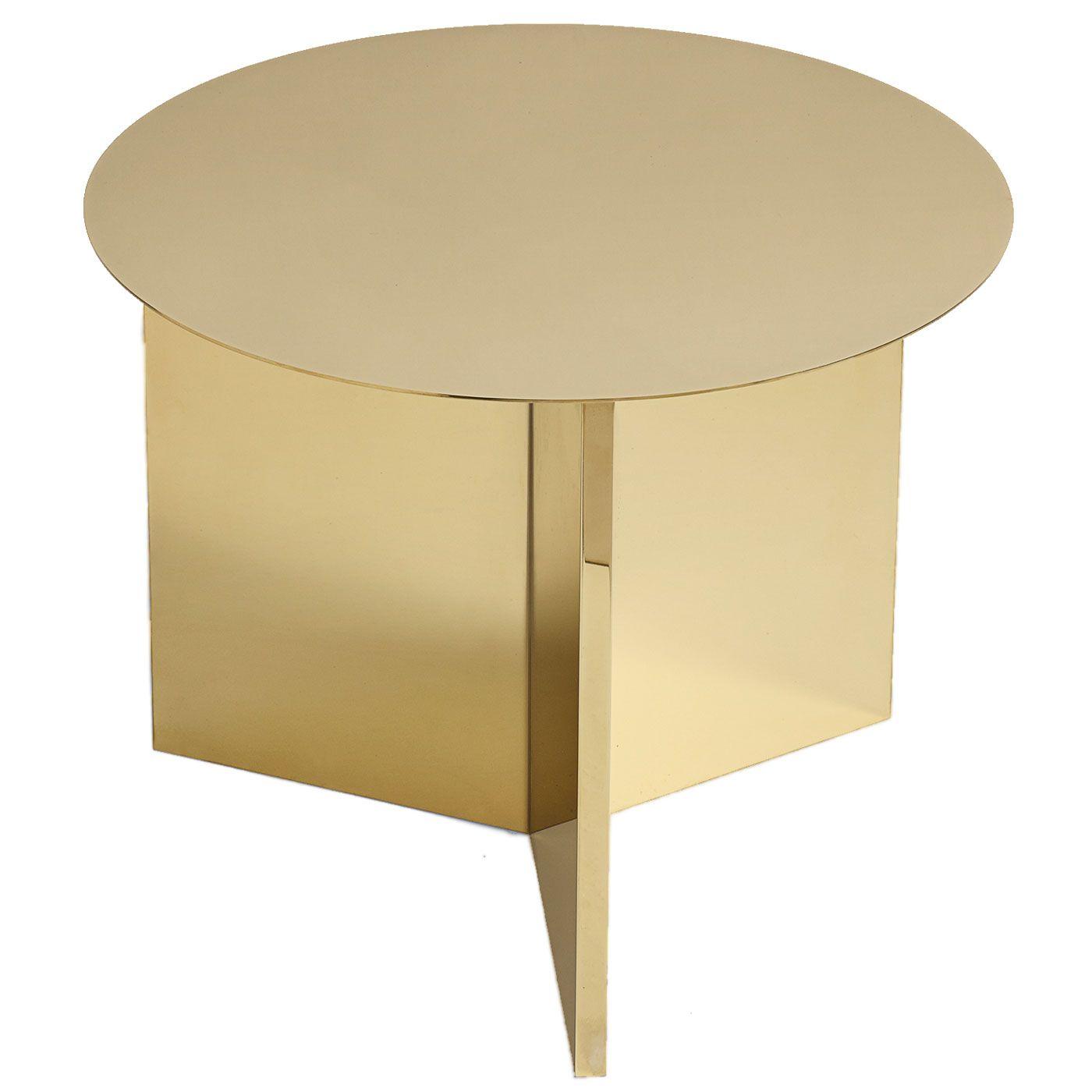 Hay Slit Table Round bijzettafel messing