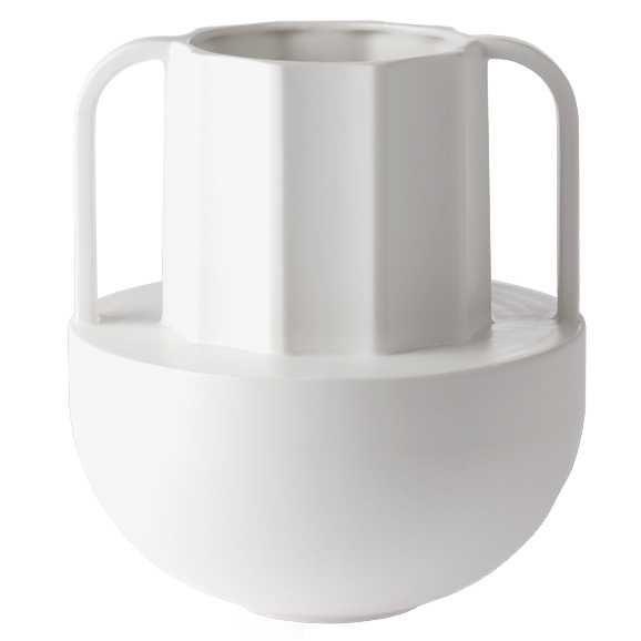 HKliving Greek Vase vaas wit keramiek D