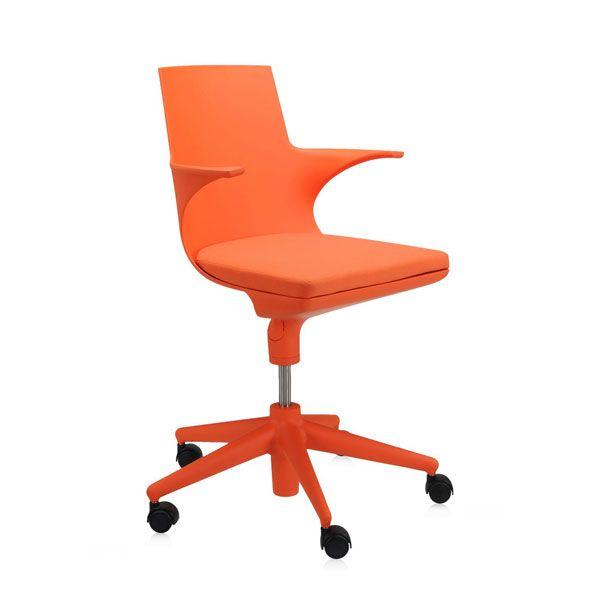 Kartell Spoon bureaustoel oranje kopen