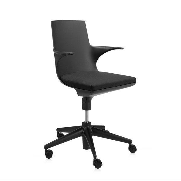 Kartell Spoon bureaustoel zwart