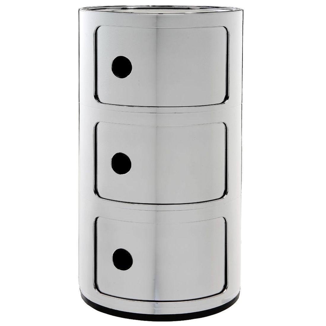 Kartell Componibili bijzettafel metallic (3 comp.) chroom 32