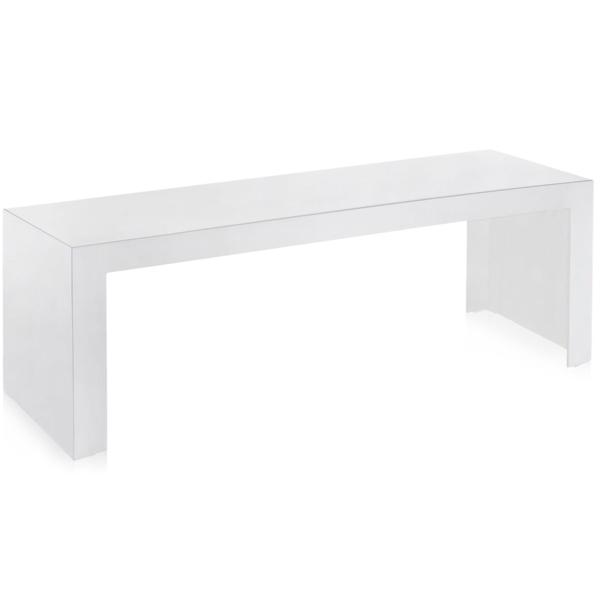 Kartell Invisible Side Low bijzettafel wit