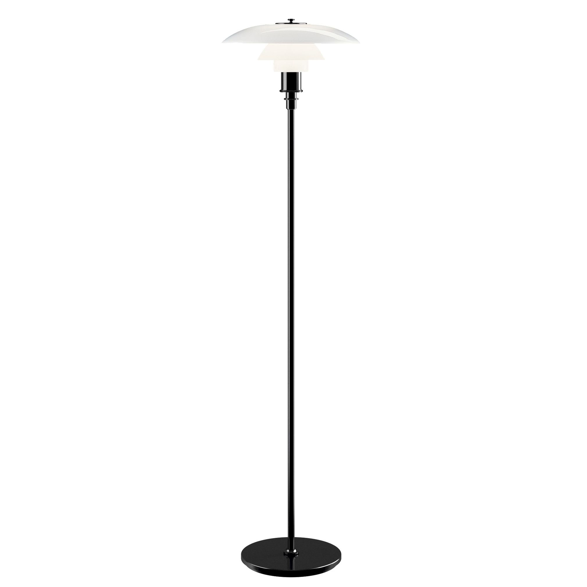 Louis Poulsen PH 3,5 2,5 vloerlamp zwart gemetaliseerd