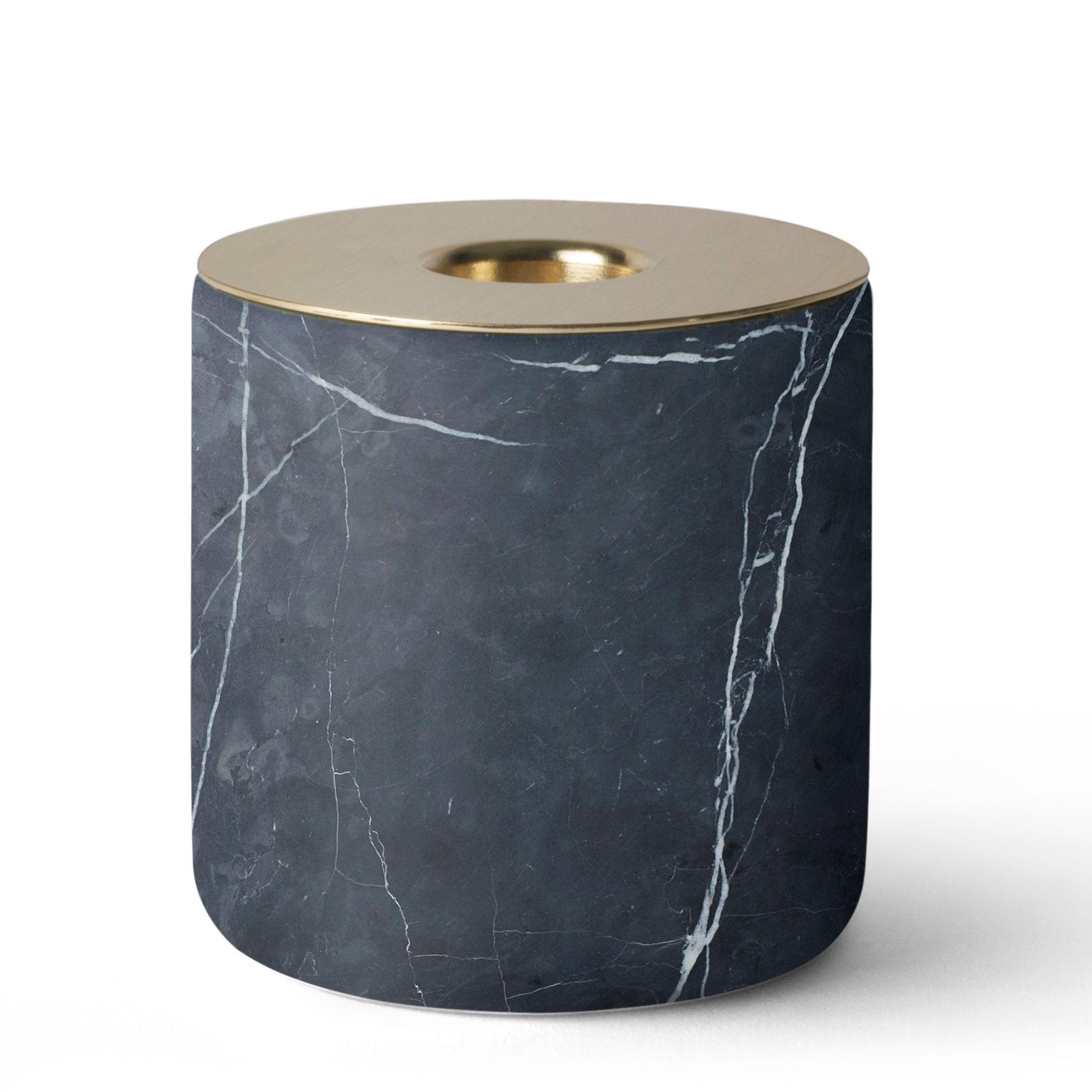 Menu Chunk of Black Marble kaarsenstandaard kopen