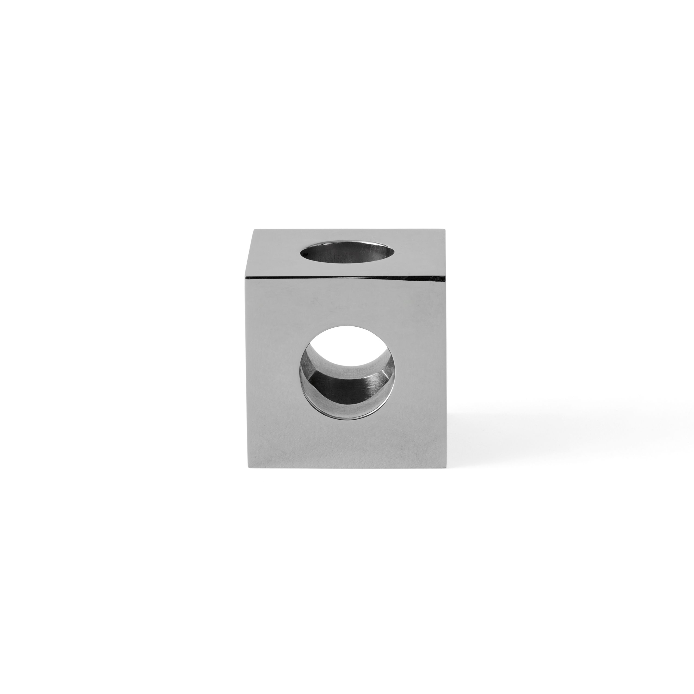 Menu Cube kandelaar roestvrij staal kopen