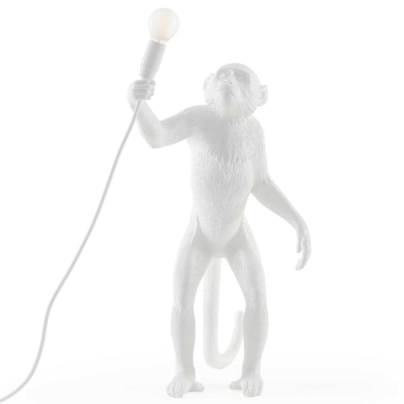 Seletti Monkey Standing vloerlamp wit