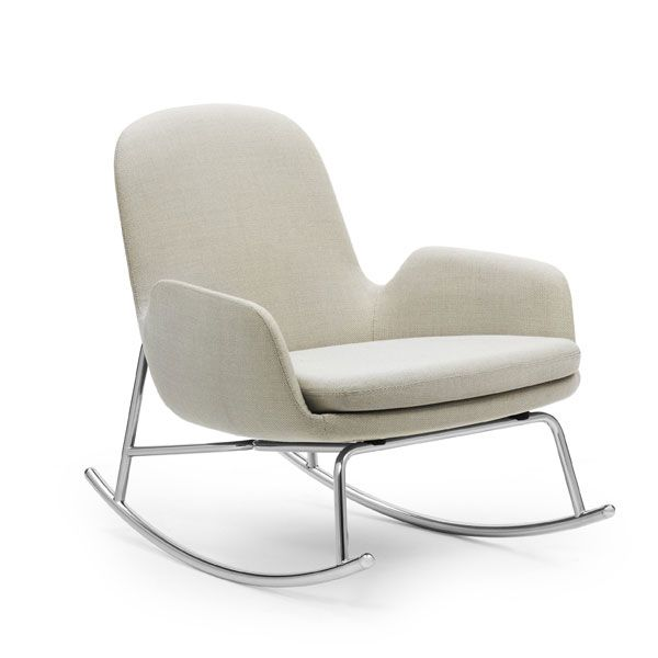 Normann Copenhagen Era Rocking Chair Low schommelstoel Breeze Fusion beige kopen