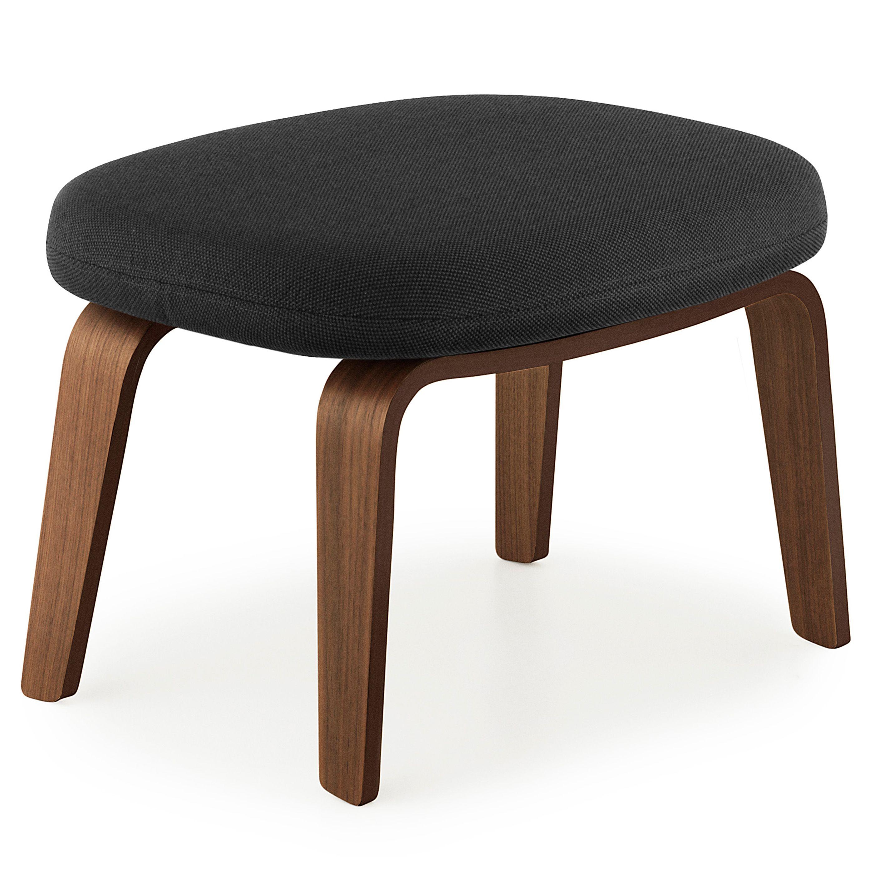 Normann Copenhagen Era Footstool voetenbank met walnoten onderstel Breeze Fusion zwart kopen