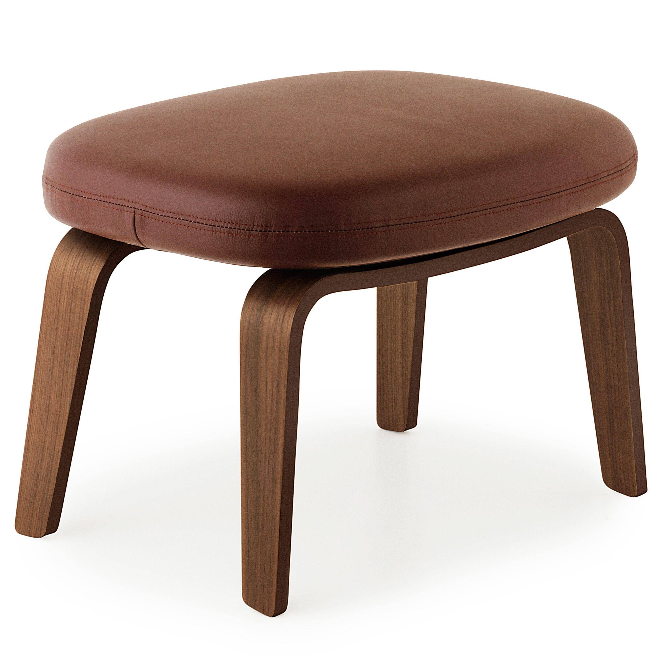 Normann Copenhagen Era Footstool voetenbank met walnoten onderstel Tango bruin