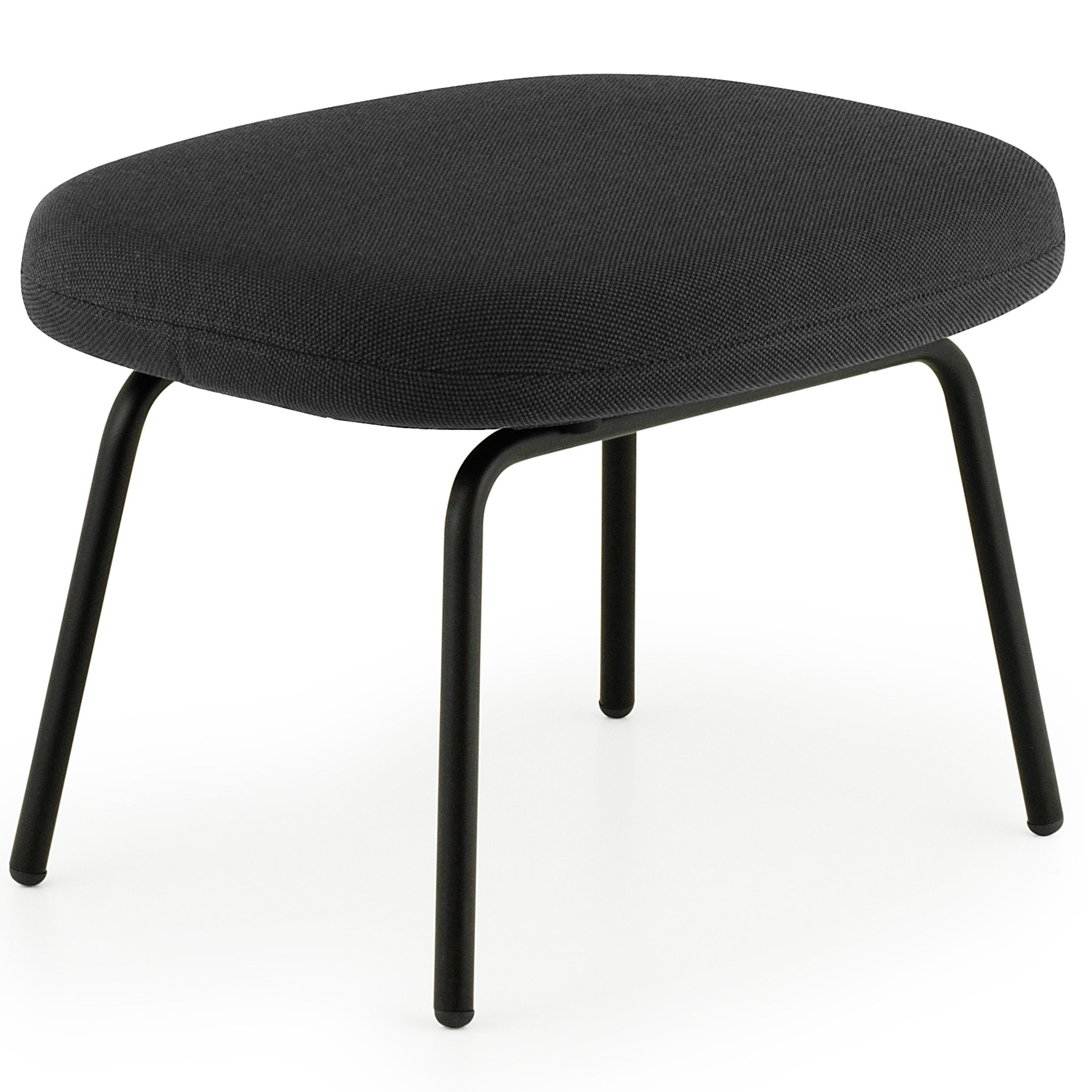Normann Copenhagen Era Footstool voetenbank met zwart stalen onderstel Breeze Fusion zwart kopen
