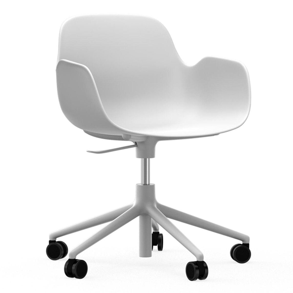 Normann Copenhagen Form Armchair bureaustoel met wit onderstel wit