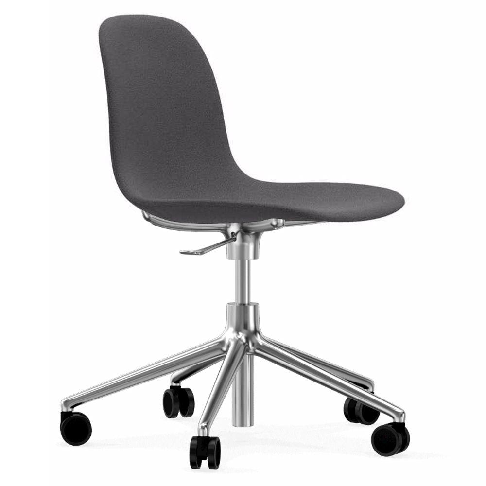 Normann Copenhagen Form Chair bureaustoel met aluminium onderstel Fame Hybrid 1201 grijs kopen
