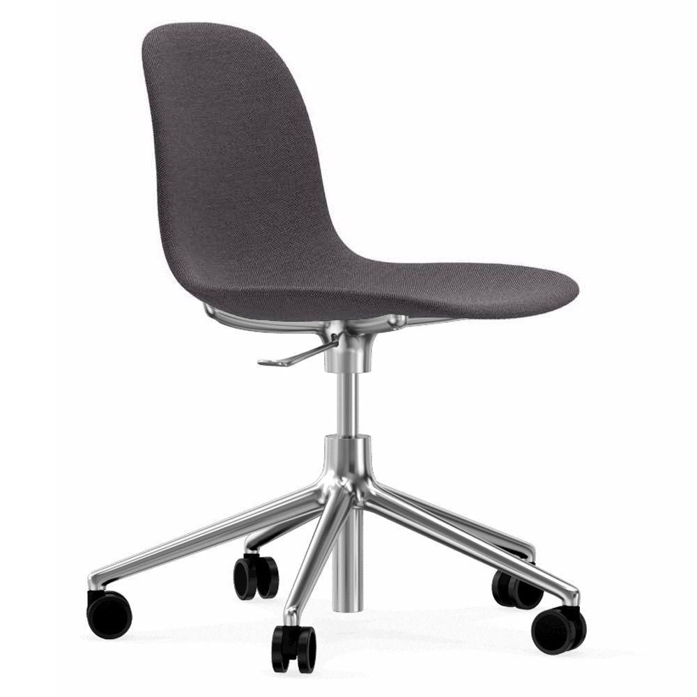 Normann Copenhagen Form Chair bureaustoel met aluminium onderstel Breeze Fusion 4103 grijs kopen