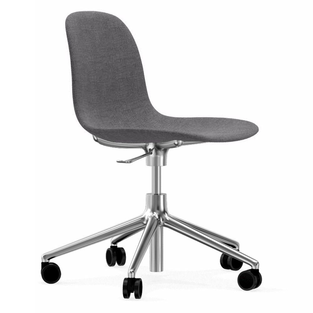 Normann Copenhagen Form Chair bureaustoel met aluminium onderstel Remix 143 grijs kopen